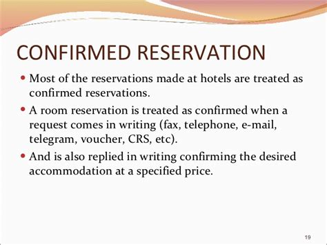Reservation Letter For A Restaurant Reservation