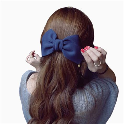Solid Big Bow Hair Clip pretty solid cloth big bow hair clip for 7 colors