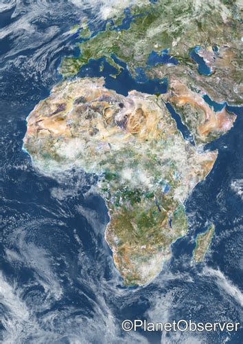 africa satellite image planetobserver africa