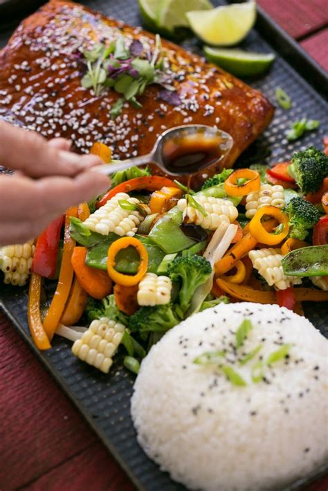 vegetables that go with salmon hoisin lime glazed salmon with mixed vegetables dinner