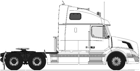 volvo semi tractor semi truck tractor drawing sketch coloring page