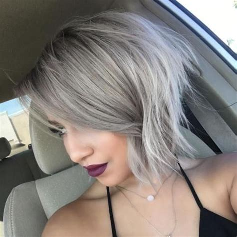 shagy short with silver highlights haistyles best 20 grey blonde ideas on pinterest grey blonde hair