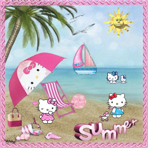hello kitty summer hello kitty summer picture 129486096 blingee com