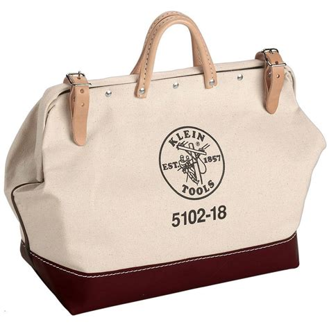 Home Depot Tool Bags by Klein Tools 18 In Canvas Tool Bag 5102 18 The Home Depot