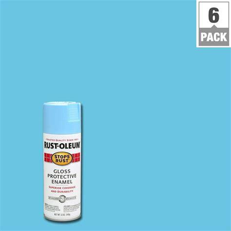home depot spray paint blue rust oleum stops rust 12 oz harbor blue gloss protective