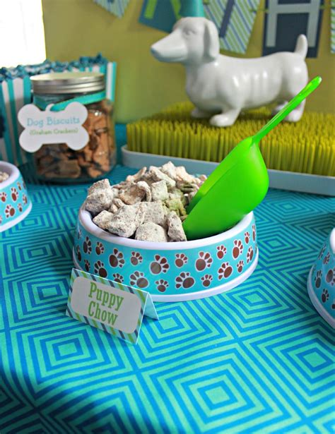 puppy theme it s a pawty puppy birthday part 1 delightfully noted