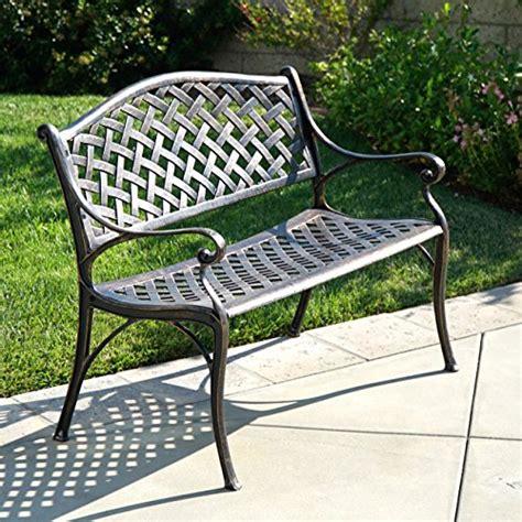 patio furniture prices belleze outdoor patio furniture garden bench cast aluminum