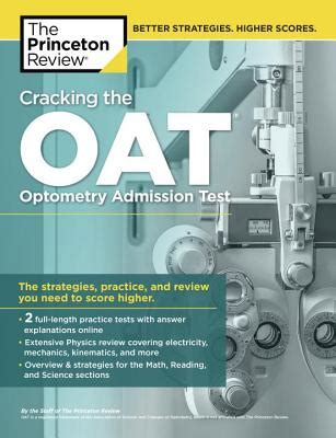 oat test sections cracking the oat optometry admission test book by