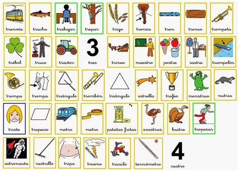 imagenes que empiecen con la letra tr asxlab tics y recursos educativos palabras trabadas