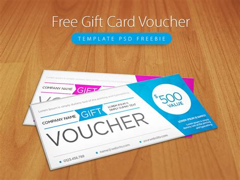 Gift Card Giveaway Photoshop Template by Freebie Clean And Modern Gift Voucher Template Psd By