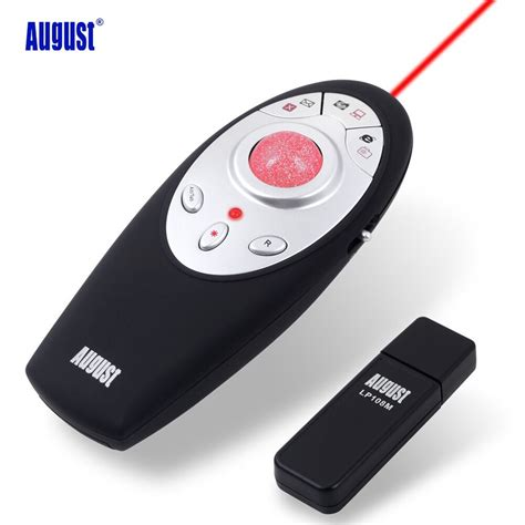 Wireless Mouse Presenter With Laser Pointer 3 In 1 Function aliexpress buy august lp108m wireless presenter with trackball mouse 2 4ghz wireless usb