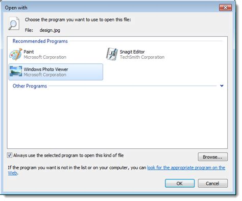 how to choose windows how do i change the default program to open a file ask leo