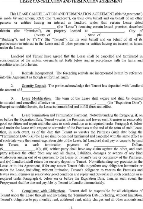Download Apartment Lease Termination Template for Free - TidyTemplates
