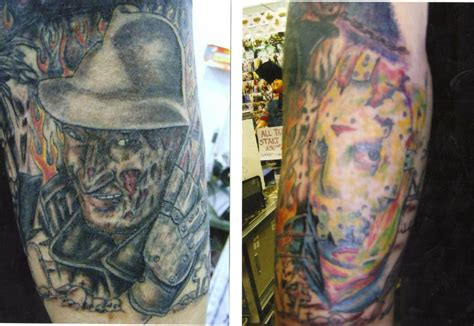 pleasure and pain tattoo picture freddy and jason arm tattoomagz