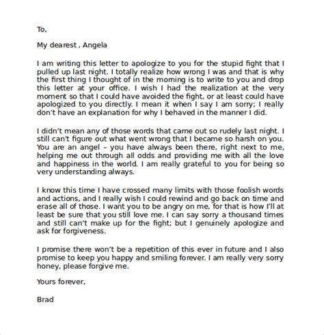 Apology Letter To Boyfriend For Breaking Up Apology Letter 7 Free Documents In Pdf Word