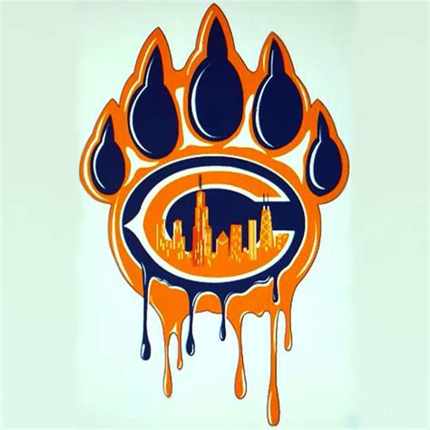 chicago bears paw tattoo design
