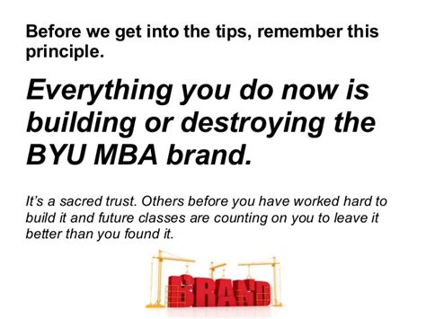 Sacred Mba by Networking Tips For Byu Mba Students