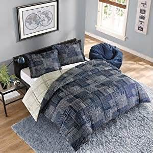 Comforter Sets For College Guys 2pc Boy Blue Gray College Reversible