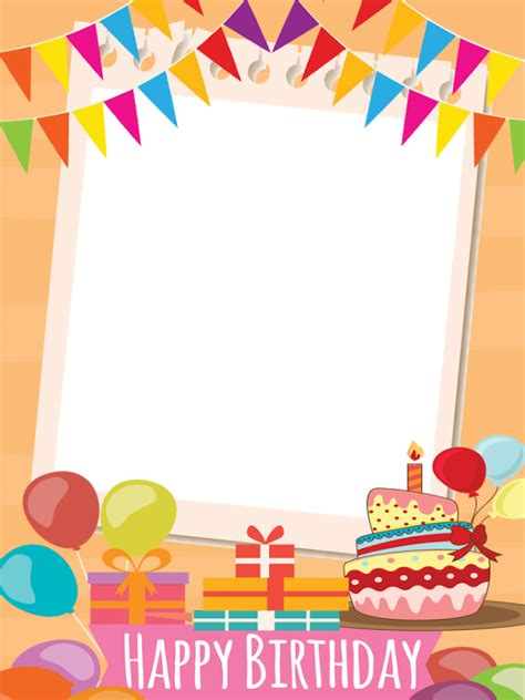happy birthday photo frame template birthday frame collage android apps on play
