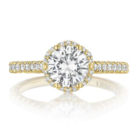Tacori Engagement Rings Gold Floral Halo Setting tacori engagement rings gold floral halo setting