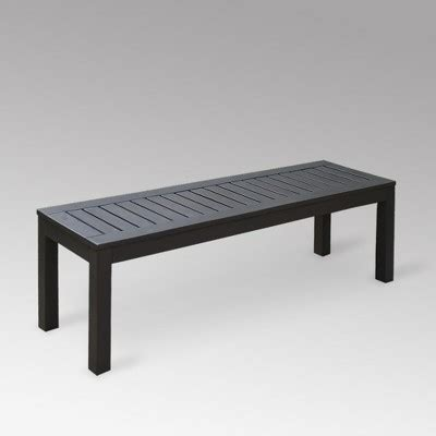 willow bay backless patio bench target