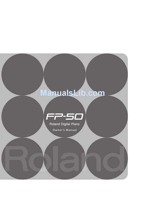 roland fp  owners manual   manualslib