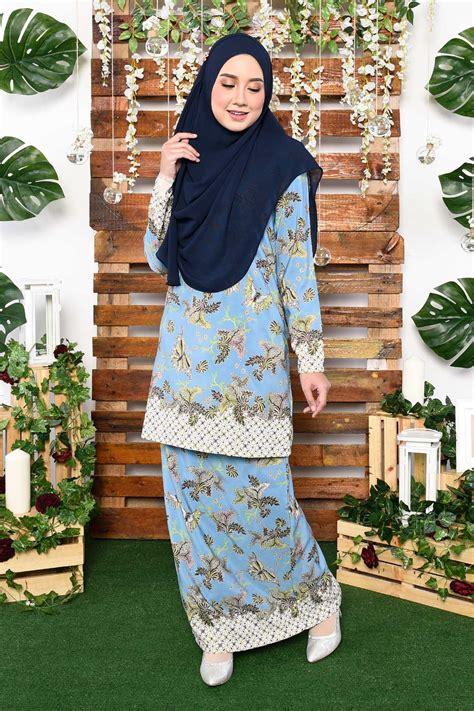 Fashion Baju Bluesky baju kurung batik naida sky blue muslimahclothing