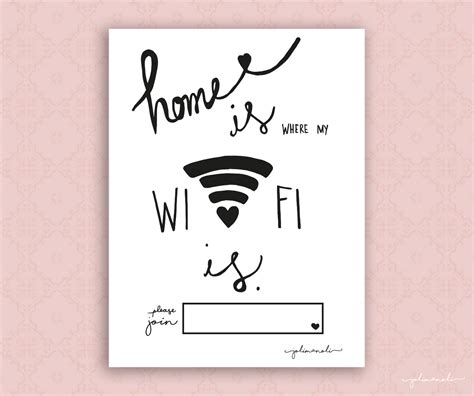 freebie printable home is where my wifi is