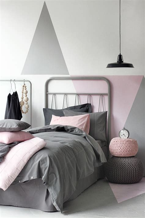 grey white pink bedroom 22 clever color blocking paint ideas to make your walls pop