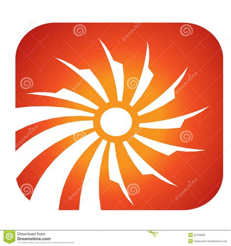sun solar logo sun solar rays logo stock photo image 22756290