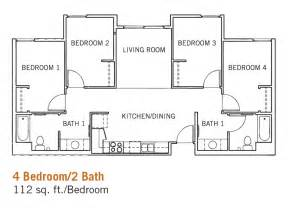 4 bedroom 2 bath floor plans glen mor