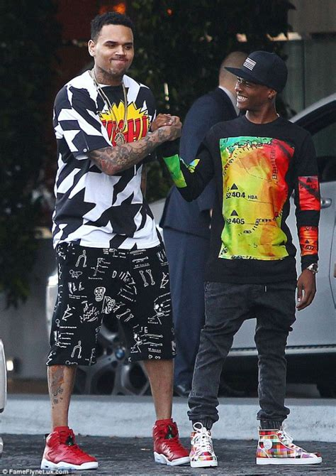 is wizkid the inspiration behind chris browns new haircut wizkid hangs out with chris brown and karrueche tran