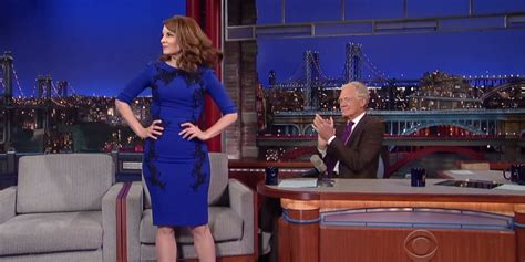 tina fey letterman tina fey gave david letterman an send last