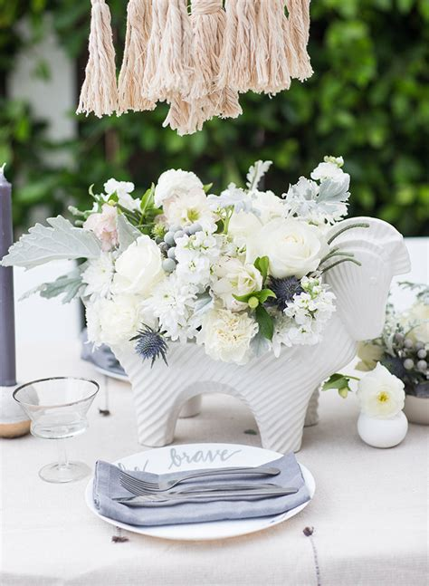 All White Baby Shower by All White Macrame Baby Shower Inspired By This