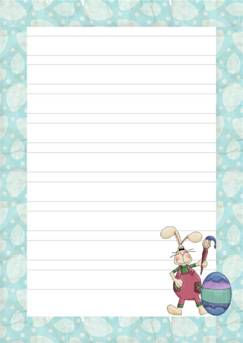 printable lined easter stationery easter bunny writing paper printable kidspressmagazine com