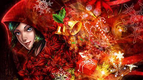 2560x1440 christmas wallpaper download wallpaper 2560x1440 art pictures girl merry