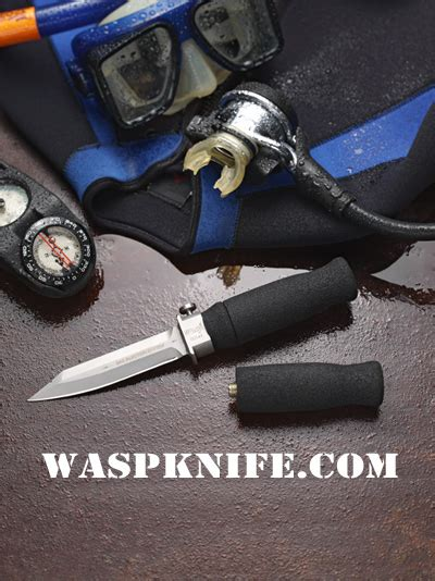 scuba diving knife co2 wasp injector knife geekporium
