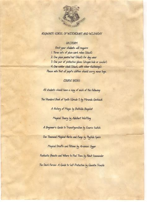 Page Two Of The Acceptance Letter From Harry Potter That I Harry Potter Letter Template 2