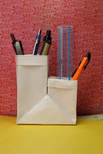 How To Make A Pencil Holder With Paper - back to school work foldsomething origami paper crafts