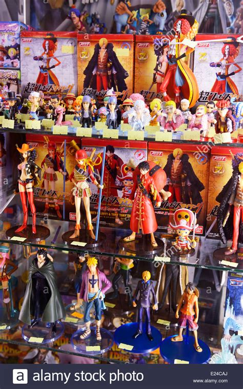 figure store anime figures on a store display in tokyo japan