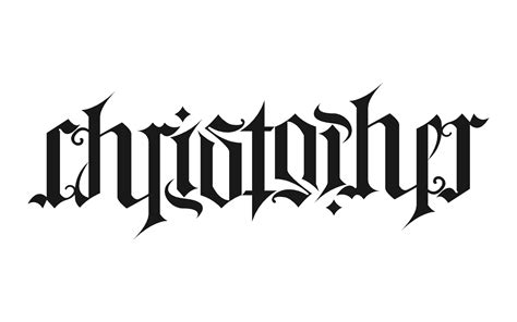 chris name tattoo designs christopher ambigram by chrisr1982edin on deviantart