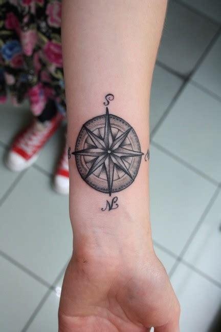 compass tattoo left wrist 35 feminine compass tattoos