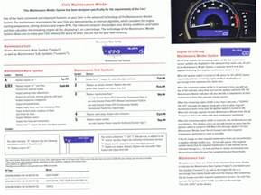 honda civic maintenance schedule submited images