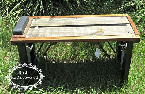 mechanic bench rustic rediscovered visitors parking mechanic bench