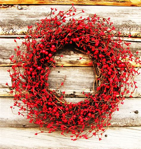 winter wreath valentines wreath red berry wreath holiday