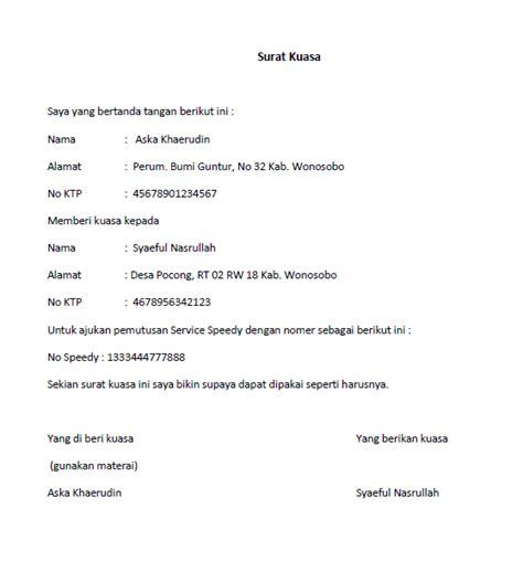 contoh surat kuasa untuk pengambilan ijazah wisata dan info sumbar