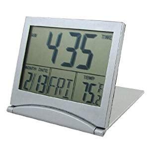 amazoncom foldable desktop tabletop calendar temperature digital alarm clock home kitchen