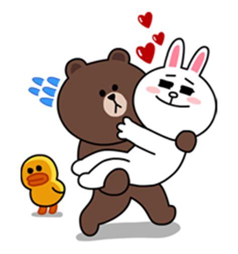 Kaos Line Emoticon Brown 16 4015 png