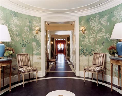 foyer wallpaper the most beautiful foyers in vogue photos gracie