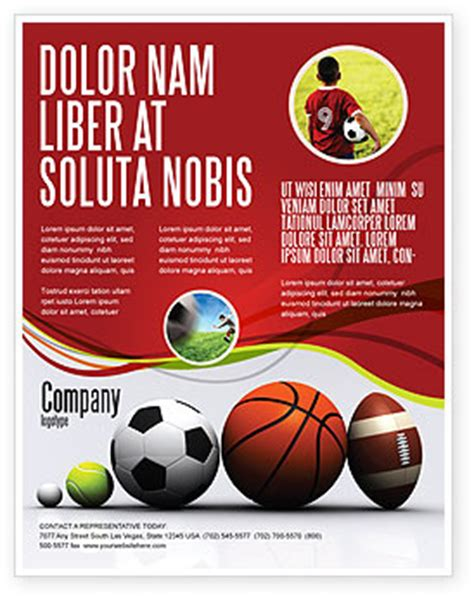 template sports sport balls flyer template background in microsoft word